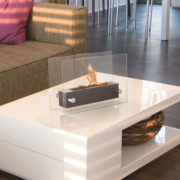 table basse avec foyer ethanol. Black Bedroom Furniture Sets. Home Design Ideas