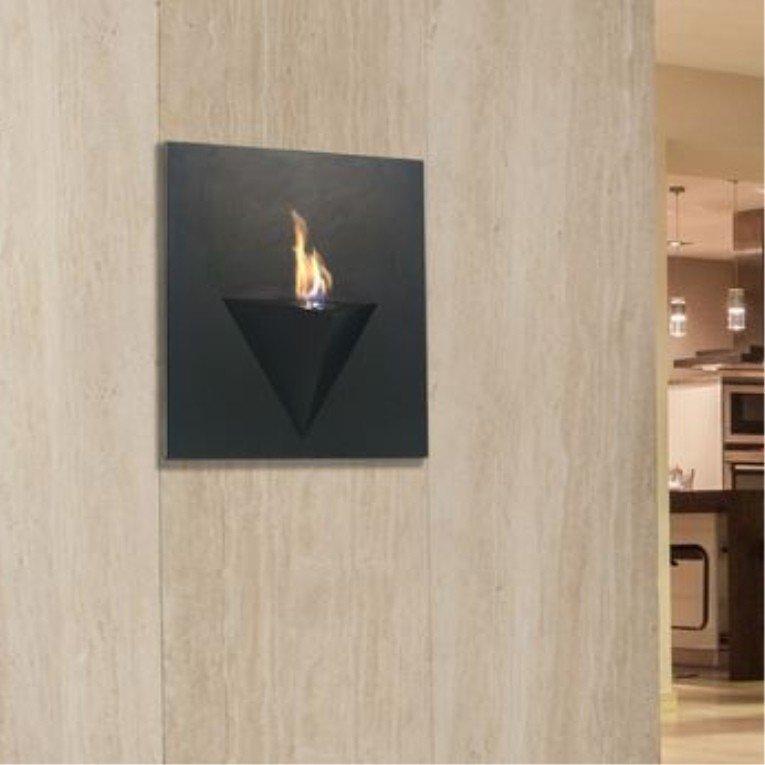 Afrodita bioethanol wall fireplace for interior and for Interior exterior fireplace
