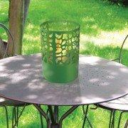 ASTREA G de Purline® une cheminée bioéthanol de table design de forme Ronde verte.