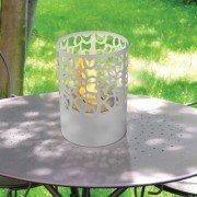 ASTREA W de Purline® une cheminée bioéthanol de table blanche, design, de forme Ronde .