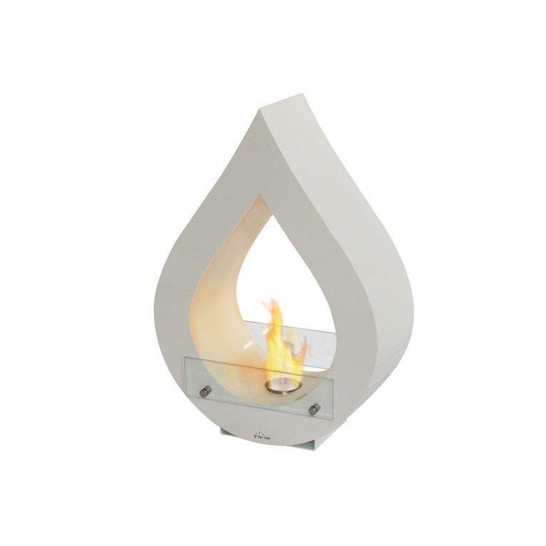 Cheminée de sol atenea blanche, une cheminée design moderne et ...