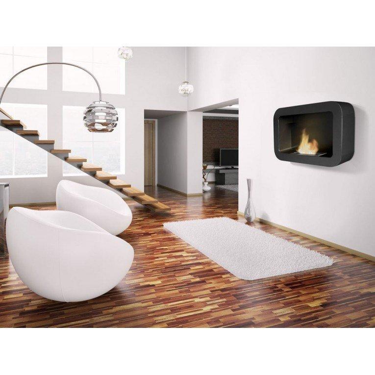 chemin e murale bio thanol kore de purline aux lignes. Black Bedroom Furniture Sets. Home Design Ideas