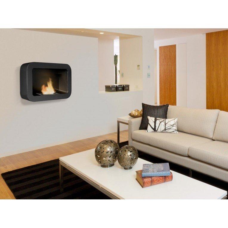 chemin e murale bio thanol kore de purline aux lignes arrondies. Black Bedroom Furniture Sets. Home Design Ideas