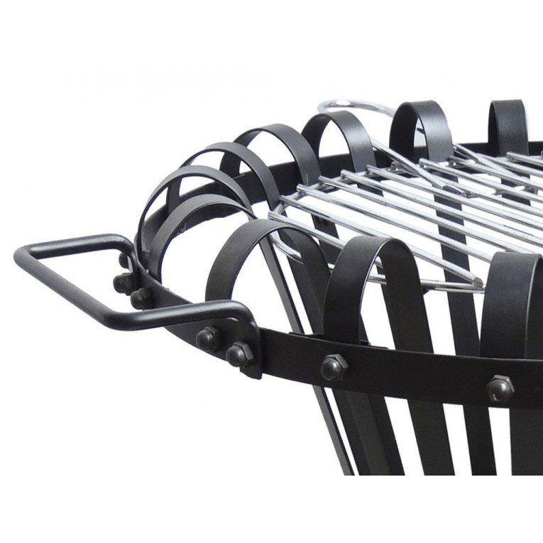 Brasero EFP2 de Purline, brasero de acero negro exterior, estufa de ...