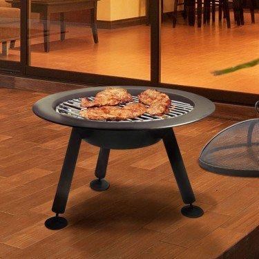 brasero bois efp4 de purline un chauffage de terrasse. Black Bedroom Furniture Sets. Home Design Ideas