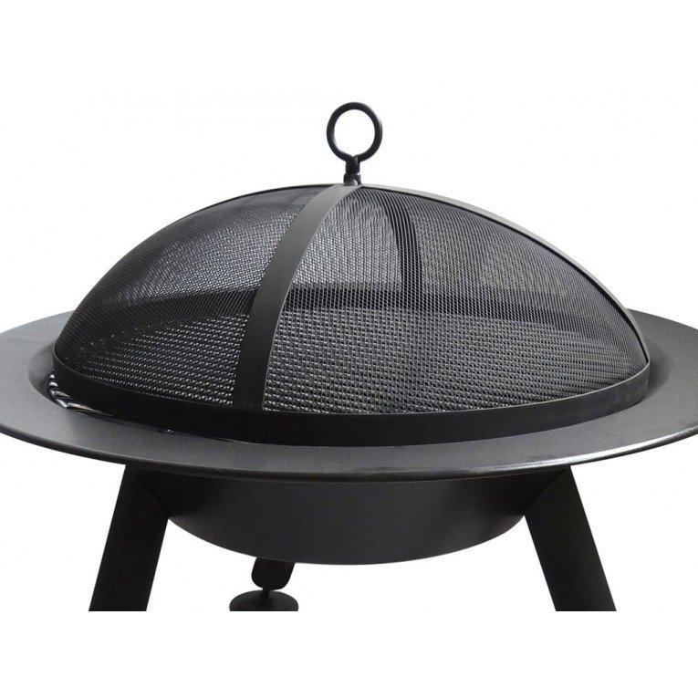 Brasero Efp4 Of Purline, An Outdoor Brazier In Black Steel, An
