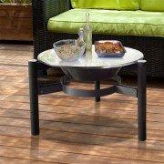 Brasero EFP5 de Purline, table de jardin, brasero et barbecue rond, ultra pratique et très soignée.