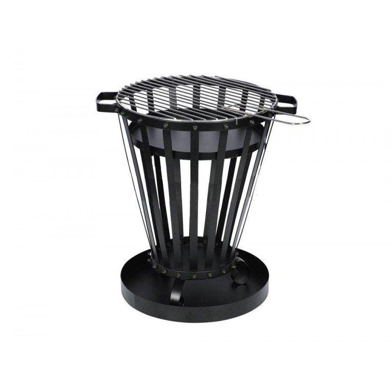 brasero efp1 de purline un brasero ext rieur en acier noir un poele bois exterieur et un. Black Bedroom Furniture Sets. Home Design Ideas