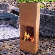 Brasero EFP8 de Purline, une cheminée de jardin un barbecue, dernière tendance couleur vieillit rouille.