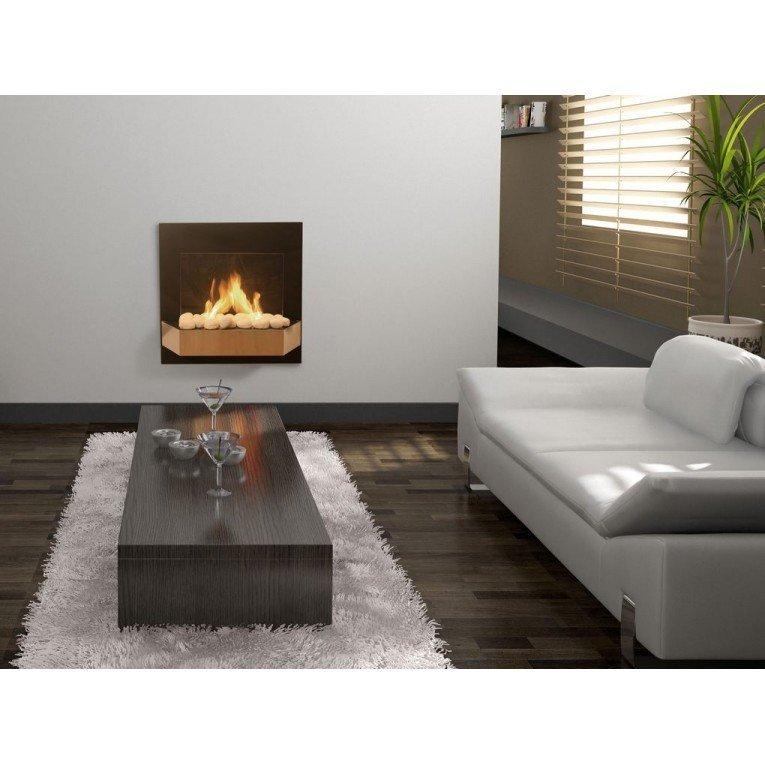 chemin e murale bio thanol cbaf21 de purline avec cran. Black Bedroom Furniture Sets. Home Design Ideas
