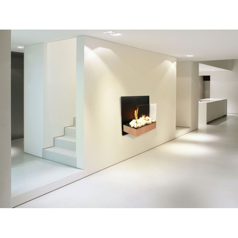 chemin e murale bio thanol cbaf21 de purline avec cran de protection. Black Bedroom Furniture Sets. Home Design Ideas
