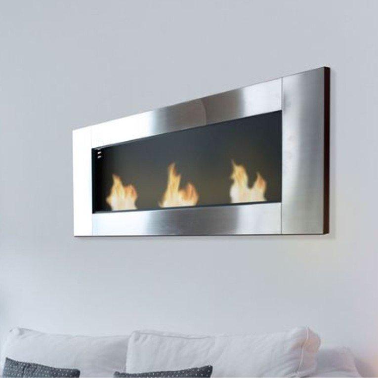 chemin e murale zeus de purline le feu version panoramique. Black Bedroom Furniture Sets. Home Design Ideas
