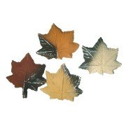 Decorative ceramic leaves for fireplaces bioethanol