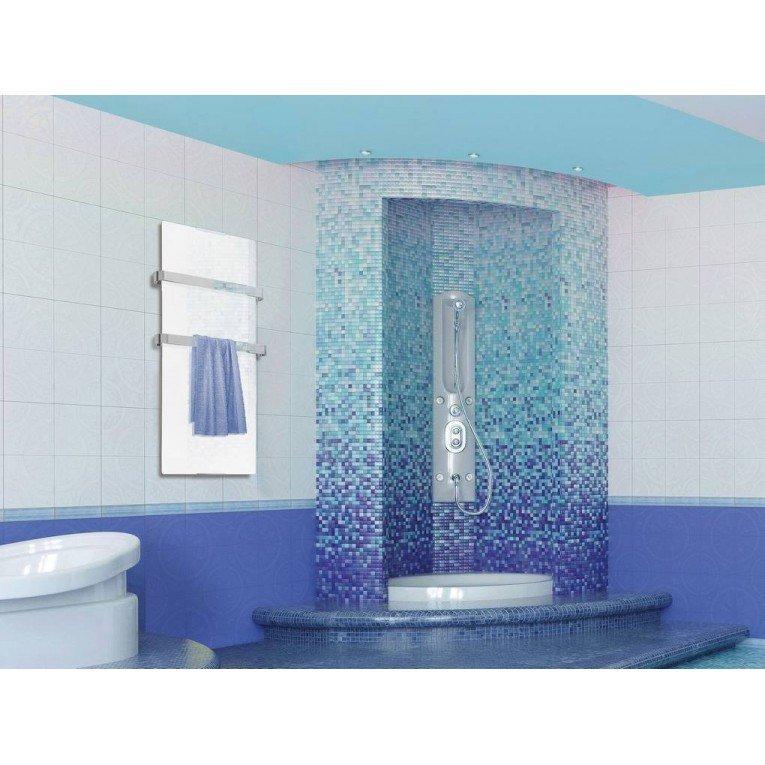Small Towel Dryer: Bathroom Towel Dryer With Mirror Effect