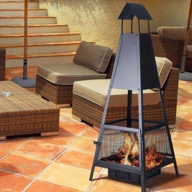 efp11 barbecue ext rieur avec chemin e d vacuation des fum es. Black Bedroom Furniture Sets. Home Design Ideas