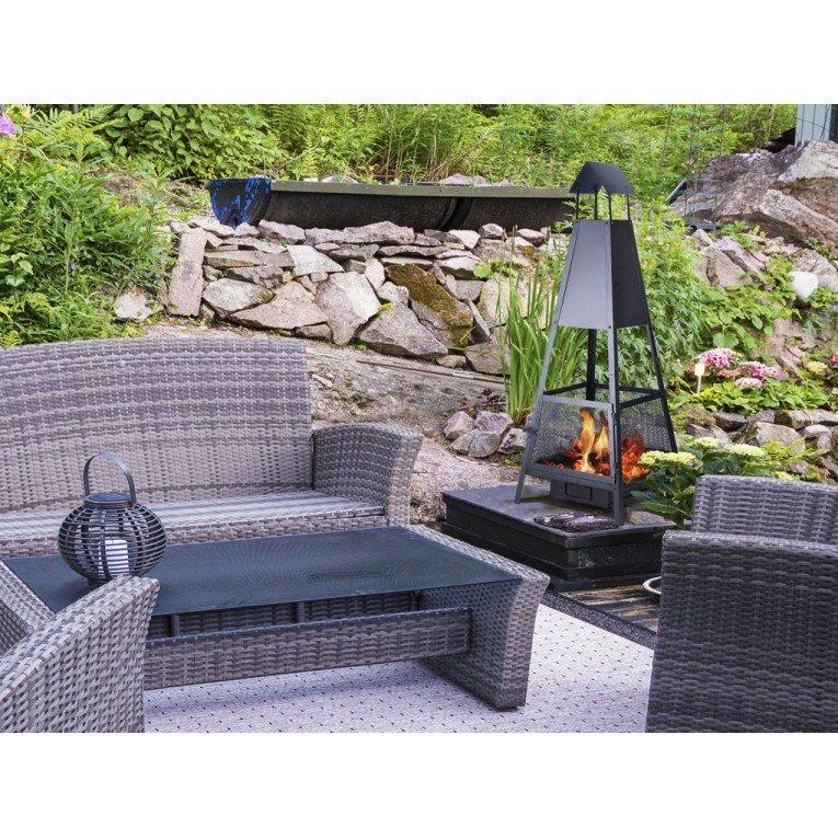 efp11 barbecue ext rieur avec chemin e d vacuation des. Black Bedroom Furniture Sets. Home Design Ideas