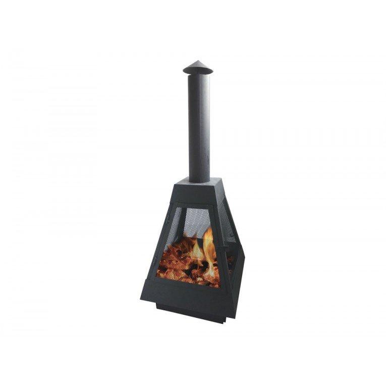 Efp10 barbecue ext rieur avec chemin e d vacuation des for Poele exterieur bois