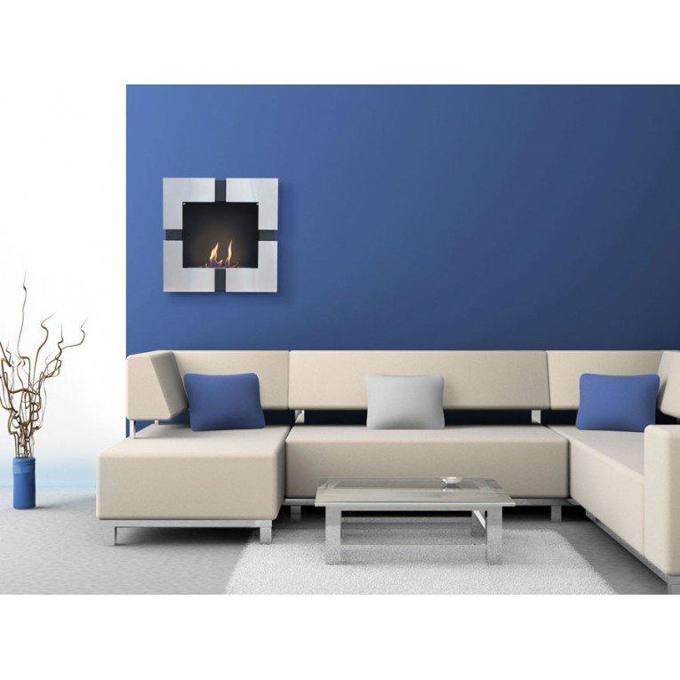 chemin e murale bio thanol teseo de purline murale ou. Black Bedroom Furniture Sets. Home Design Ideas