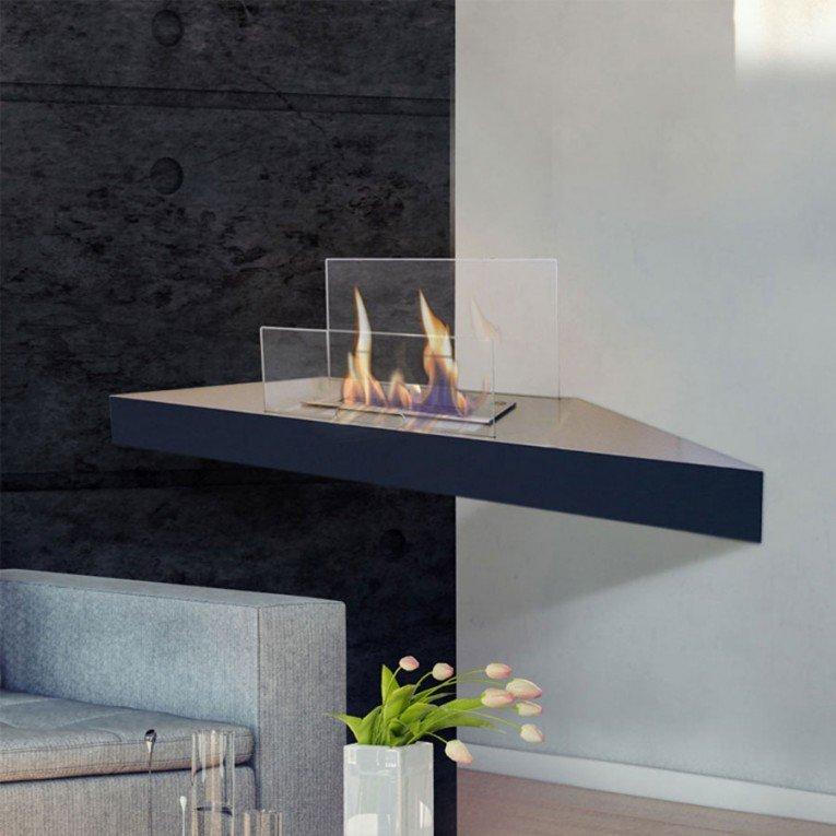 chemin e murale d 39 angle prometeo de purline au bio thanol. Black Bedroom Furniture Sets. Home Design Ideas