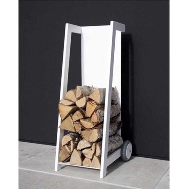 chariot e transport de bois design blanc. Black Bedroom Furniture Sets. Home Design Ideas