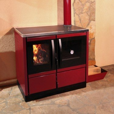 rubina de purline une cuisini re a bois moderne de 12 kw puissante en fonte. Black Bedroom Furniture Sets. Home Design Ideas