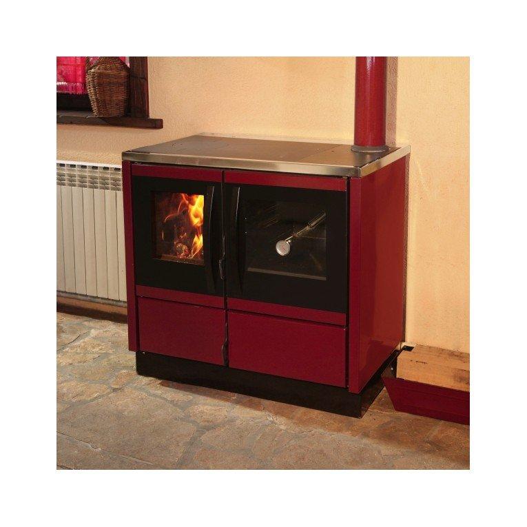 rubina caldera de purline une cuisini re a bois moderne de 25 kw puissante en fonte. Black Bedroom Furniture Sets. Home Design Ideas