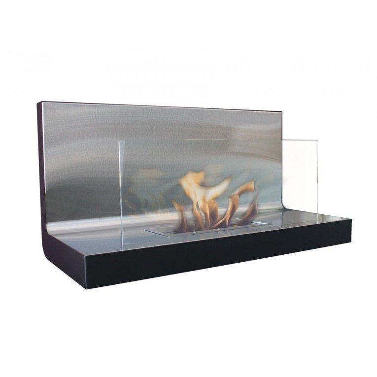 Chemin e bio thanol murale en verre et inox moderne et puissante - Cheminee ethanol mural ...