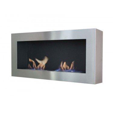 Nisa, cheminée murale bio-éthanol Purline® de largeur panoramique