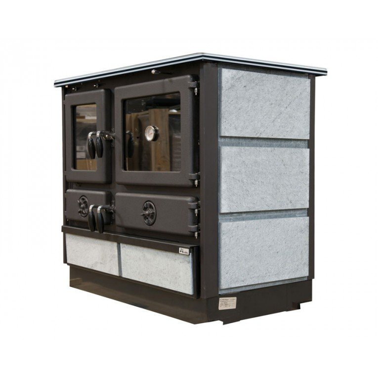 wood burning range cooker 12 Kw, Malina briquette by Purline, Cast ...