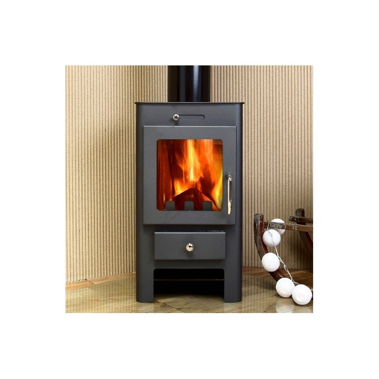 Purline ® Marinela White, Wood stove 7Kw to 12 Kw , convection effect ...