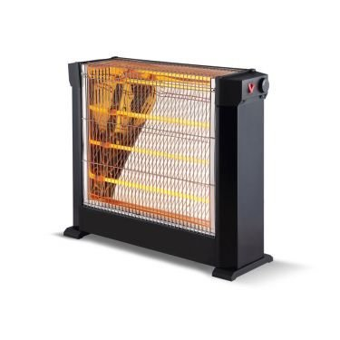 chauffage d'appoint à tube infrarouge quartz 2200 watts, pratique et très puissant