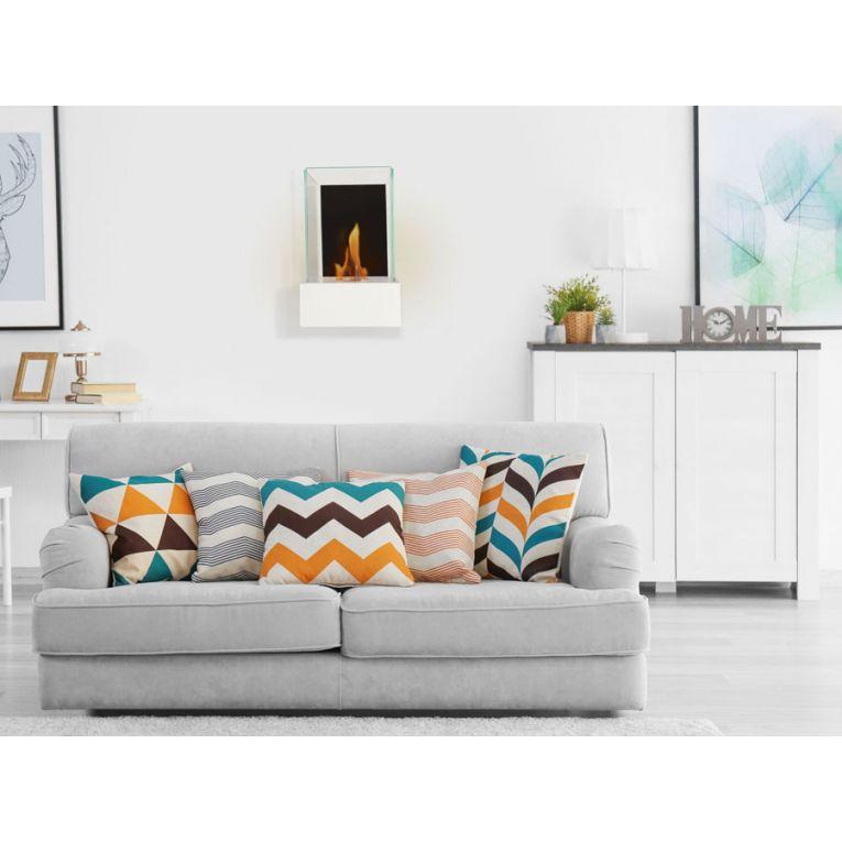 chemin e murale eos whaite blanche intense ultra moderne. Black Bedroom Furniture Sets. Home Design Ideas