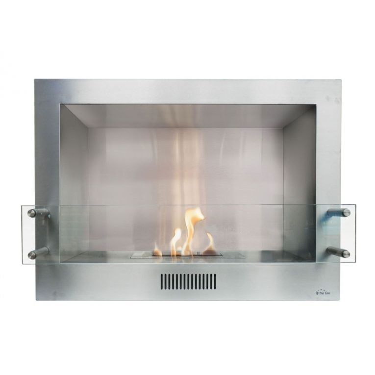 Demeter Bioethanol Wall Fireplace With Magnetic Removable Facade