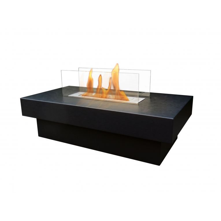 notos table de salon avec cemin e bioethanol int gr e. Black Bedroom Furniture Sets. Home Design Ideas