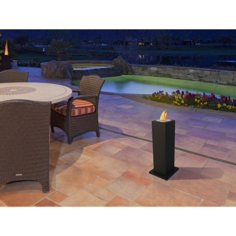 aedea une colonne surmont e d 39 une chemin e bio thanol ext rieur et interieur. Black Bedroom Furniture Sets. Home Design Ideas