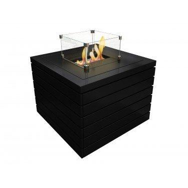 Erebus de Purline une table de salon avec cheminée bio éthanol puissante intégrée, superbe!