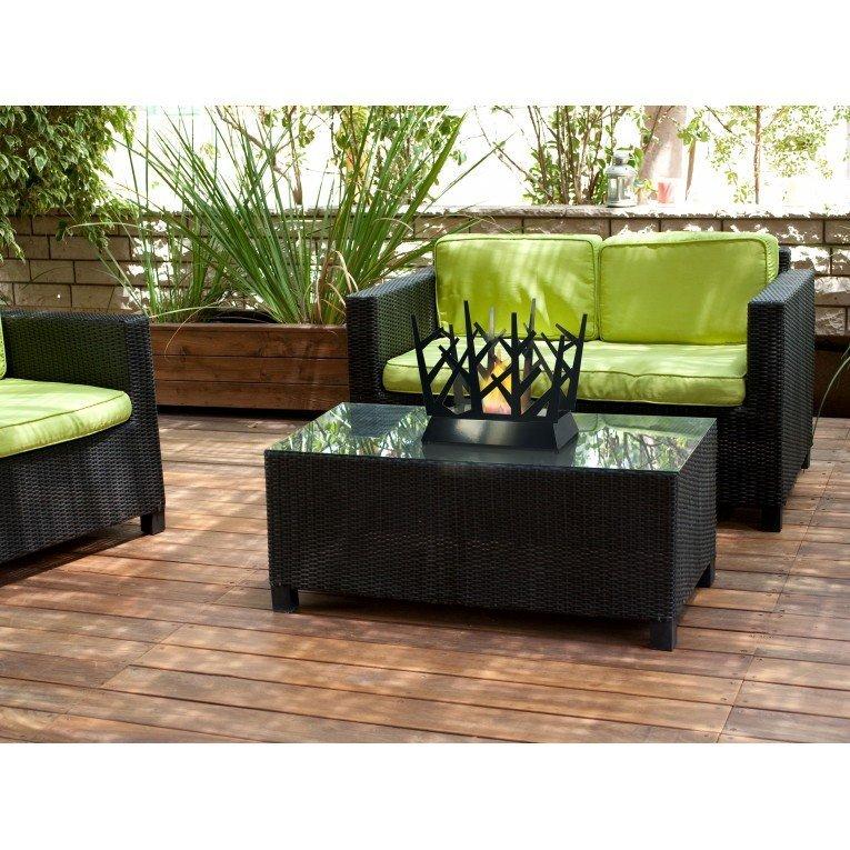 Chemin e bio thanol de table ultra design noir - Chimenea de mesa ...