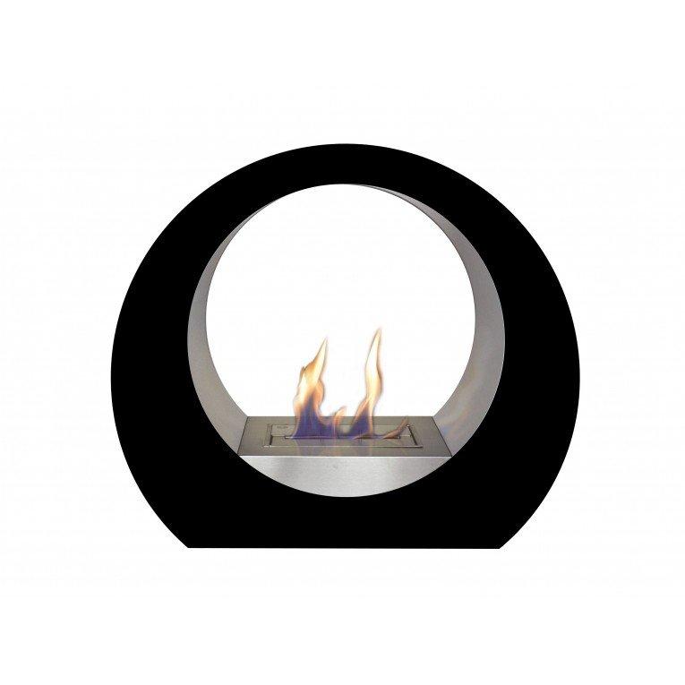 Cheminée de sol dione b noir, une cheminée design moderne et ...