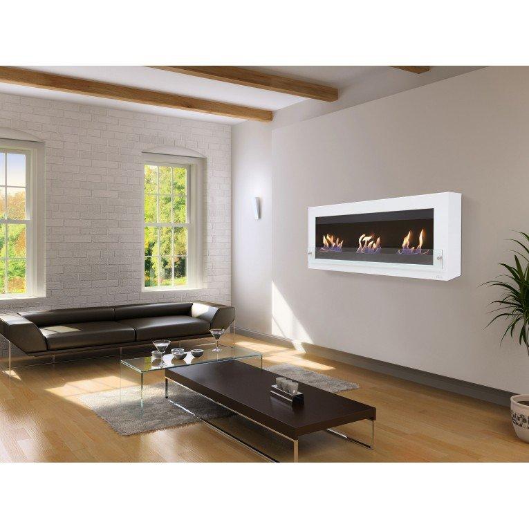 Chemine ethanol design fixation murale tv et chemine sur - Table basse bio ethanol ...