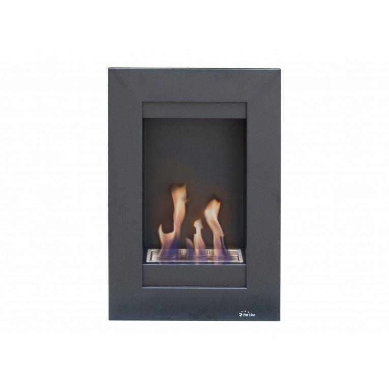 chemin e bio ethanol morfeo murale encastrer ou a flanc de mur. Black Bedroom Furniture Sets. Home Design Ideas