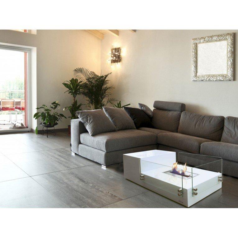 table de salon avec cemin e bioethanol int gr e. Black Bedroom Furniture Sets. Home Design Ideas
