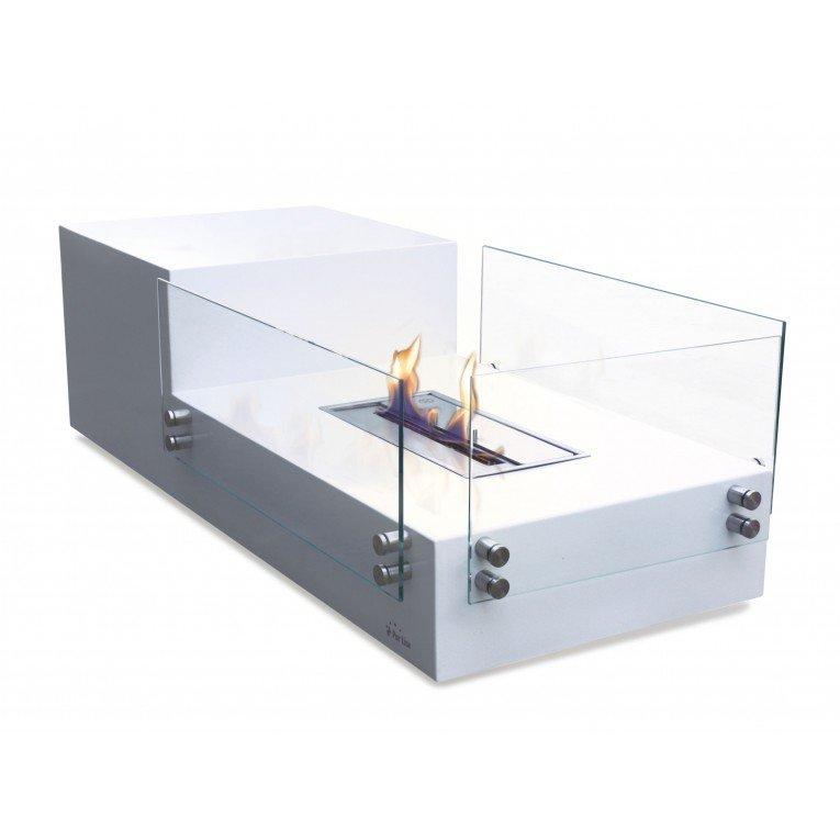 Table de salon avec cemin e bioethanol int gr e - Cheminee bio ethanol de table ...