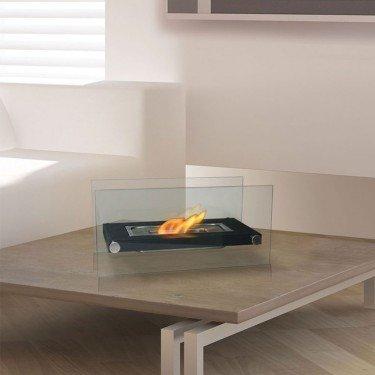 Oniros, cheminée bioéthanol de table, un premier prix très épuré et moderne !