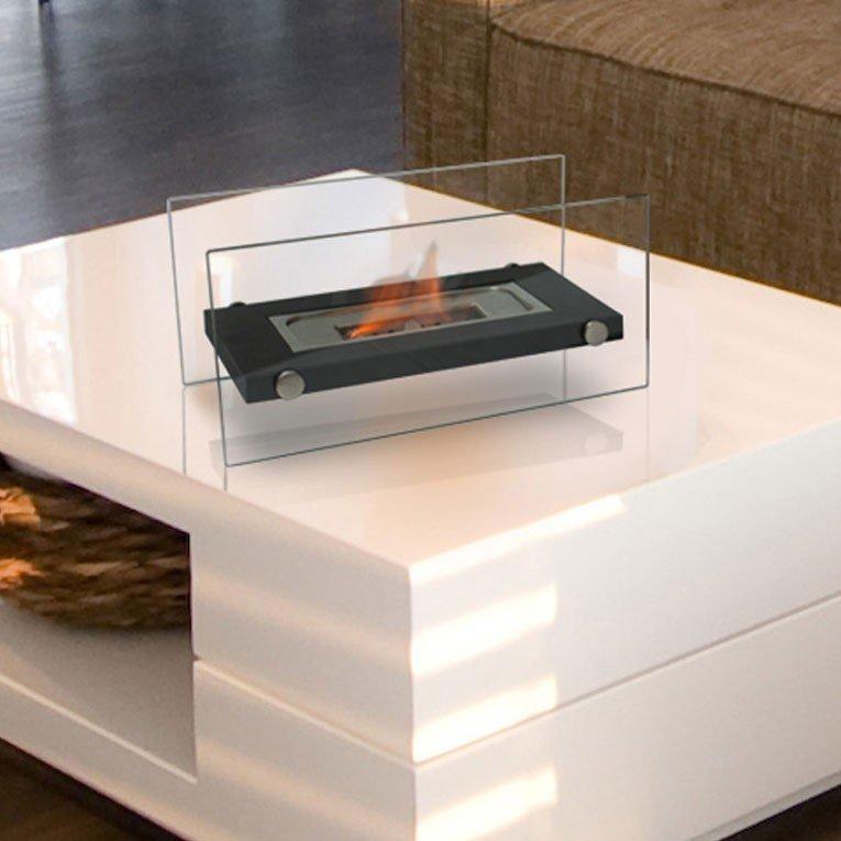 Chemin e bio thanol de table ultra design blanche for Table exterieur moderne