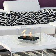 Dafne W, una extraordinaria chimenea bioetanol de mesa con un diseño impresionante.