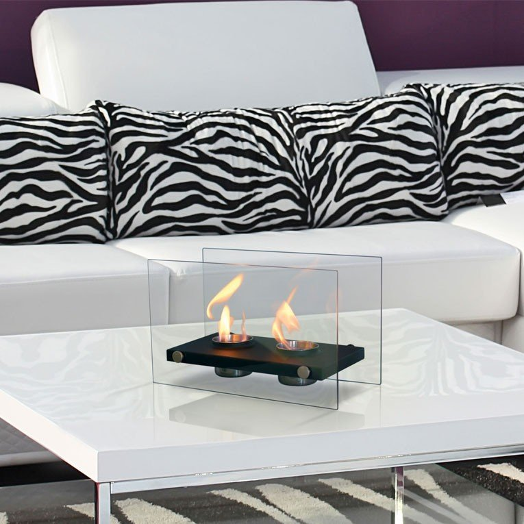Chemin e bio thanol de table ultra design blanche - Chimeneas bioetanol diseno ...