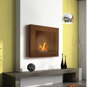 BestBio brown , enjoy real flames in an ultra modern fireplace!