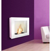 BestBio white ,enjoy a real fire flames, in an ultra modern fireplace!