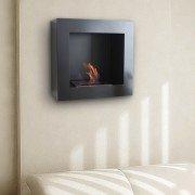 BestBio black, profitez d'un feu de flamme réel, dans une cheminée ultra moderne !
