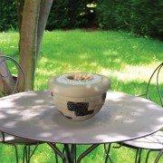 Caliope, une cheminée de table en terre cuite, très originale